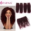 4pcs / Lot красные человеческие волосы Bundles освобождают корабль Xuchang FUNKY волос 4Pcs / Lot бразильские 99j глубокие волны бургундские вьющиеся волосы дешево Бразилия дешево
