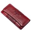 Yan Man (INMAN) ретро кожаный кошелек кошелек мода кошелек кошелек больше женский ручной бумажник кошелек 6871040018 вино красный cropp кошелек
