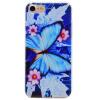 Голубая бабочка шаблон Мягкий чехол тонкий ТПУ резиновый силиконовый гель чехол для IPHONE 7 цвет цветы шаблон мягкий тонкий тпу резиновый силиконовый гель дело чехол для iphone 7