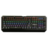 Тележка (AULA) Raiders Blended Machine Keyboard 104 Key Wired USB Game Keyboard Laser Shaft Black Edition