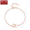 Ксин Уон 18K розового золота браслет Клевер о 1.6-1.8g yoh ho kids 3d пазл куб базовый