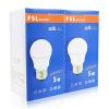Foshan Lighting (FSL) Светодиодная лампа Энергосберегающая лампа 5W Большая E27 Теплая белая 3000K Hyun Silver 2 Pack