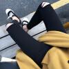 sustory женщин 2017 весной Корейский высокой талии плотно колготках колено отверстие джинсы тонкий карандаш брюки SU013 черный заусенцев 28 18 5 inch g185xw01 v 1 g185xw01 v1 lcd display screens