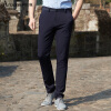 Астон мужские повседневные брюки сплошной цвет талии прямые брюки мужские брюки синий 29 AMZ11530056