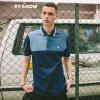 Village Roadshow viishow случайные рубашка с короткими рукавами ПОЛО Пол трехцветный прострочкой мужская с коротким рукавом темно-синяя рубашка PD17051721 L мужская летом случайные рубашка с короткими рукавами