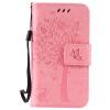 Pink Tree Design PU кожа флип крышку кошелек карты держатель чехол для IPHONE 4 pink tree design pu кожа флип крышку кошелек карты держатель чехол для samsung c5