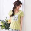 Инь Человек (ИНМАН) 2017 лето новые литературные печататься футболки женские с короткими рукавами блузки бесполезный зеленый XL 1872022101