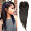 Angie Queen Hair Company Перуанская прямая кружевная застежка Бесплатная доставка трех частей Бесплатная доставка 8inch -20inch Virgin Peruvian Hair