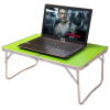 Новый Yuechang открытый портативный складной маленький стол большой ноутбук стол компьютер учебный стол кровать стол общежитие ленивый складной стол яблоко зеленый ZL64
