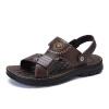 Верблюд марки мужские сандалии случайные свежие кожаные сандалии открытые носки пляжные сандалии W722287072 коричневый 42/260 ярдов