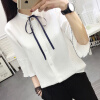 Футболки рубашки прилива VWCD174238 VIVAHEART белый галстук корейских женщин с короткими рукавами рубашки Размер рубашки футболки для детей