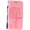 Pink Tree Design PU кожа флип крышку кошелек карты держатель чехол для SAMSUNG S6 purple tree design pu кожа флип крышку кошелек карты держатель чехол для samsung s6