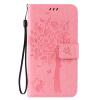 Pink Tree Design PU кожа флип крышку кошелек карты держатель чехол для SAMSUNG J7