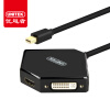 (UNITEK) Mini DP to VGA / HDMI / DVI трехконтактный конвертер Mini Displayport адаптер Яблочный соединительный кабель Y-6353BK vention mini dp к vga hdmi dvi конвертер apple интерфейс mini displayport