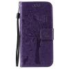 Purple Tree Design PU кожа флип крышку кошелек карты держатель чехол для IPHONE 6
