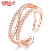 Серебро Силвер язык творчески 925 серебряное кольцо открытие серебряные ювелирные изделия из розового золота