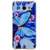 Голубая бабочка шаблон Мягкий чехол тонкий ТПУ резиновый силиконовый гель чехол для Samsung Galaxy J5 2016/J510 серьги агат серый серебро 925 пр