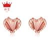 Джейн Ai (zhenai) 6063-18K Летний Камуфляж 18k золото розового золота цвета золото серьга любовь серьги серьги двойной