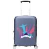 Aihuashi (oiwas) 20-дюймовый чехол чехол для чемодана чехол для чемодана пылезащитный кожаный чехол эластичный утолщение износ 1331 серый чехол
