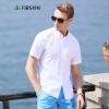 FIRS Мужская рубашка с коротким рукавом, чистый цвет, оксфорд(ткань)