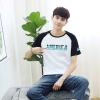 Длинные Yue мужчин моды печати хит цвет вращатель манжета шею с коротким рукавом футболка LMTD172257 белый L манжета приборная выпускная симтек 110 мм цвет белый