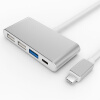 BIAZE Type-C Conversion Cable Apple Notebook MacBook USB-адаптер HUB-конвертер Type-C в Type-c 3-портовый USB-концентратор Один-три R7-Silver usb 3 1 type c to 4k hdmi hub type c adapter thunderbolt 3 convertor usb c dock dongle combo with sd tf charging for macbook pro