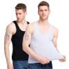 Босидэн Мужская жилет 2 Pack Мужская спортивная жилет Stretch Slim Sleeveless Мужская футболка Black + Grey -XXXL