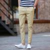 Longyue мужчины моды сплошной цвет хлопок и белье девять пунктов случайные брюки брюки брюки LMKX173155 хаки 33 брюки и капр