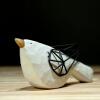 домашние животные украшения  Искусство воротник белой керамической птицы современный улыбка обучающие карточки домашние птицы