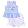 Hello Китти Герлс жилет костюм брюки и рубашки пойти ребенок синий костюм KA722CA10RB110 100