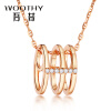 Wu Xi (WOOTHY) 18k золото розовое золото бриллиант кулон ожерелье золота кулон с бриллиантами wu xi woothy белого золота 18 карат алмазов ожерелье кулон золотой кулон с бриллиантами