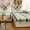 Зеленый камыш ткань дивана подушку дивана полотенце в европейском стиле зеленый 90 * 180см 1 шт