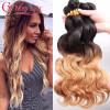 Бразильские наращивания волос Ombre Цветные 1B 27 Blonde Ombre Body Wave Two Tone Virgin Hair Weave 3 Bundles home furnishings photoelectric switch cy cy 27 29 pn cy 21