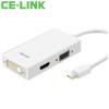 CE-LINK Mini DP к VGA/HDMI/DVI тройной конвертер 4K Mini DisplayPort переходник aopen hdmi dvi d позолоченные контакты aca311