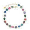 Yoursfs @ Браслеты и браслеты CZ Diamonds Браслет Rhinestones Handmade Statement Женский браслет Vintage Crystal Bangles