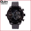 OULM 3130 Men Quartz Military Fashion Unique Watch Dual Display Quartz Wrist Watch Outdoor Military Sports Watches