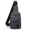 Muzee парусиновая мужская сумка через плечо, сумка на поясе qingqizhe мужская сумка на поясе спортивная сумка через плечо