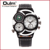 OULM Brand Watches Men Luxury Top Quartz-watch 3 Dials Vintage Military Wristwatch Male Leather Clock relogio masculino men watch relogio masculino top brand luxury leather military watches clock men quartz watches relojes hombre wristwatch lsb1437