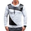 Новый мужской случайный сшивание капюшоном флиса пуловер Толстовки