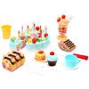 Мама и папа (babamama) день рождения торт моделирование игры дома Детские кухни игрушки 1-3 лет детский образовательный подарок ребенку синий костюм B1005