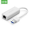 Зеленый союз (UGREEN) Gigabit проводной LAN USB к RJ45 Кабель интерфейсный конвертер USB3.0 внешний сетевой интерфейс Apple Mac ноутбук адаптер белый 20255 ugreen usb конвертер 2 порта два на один
