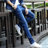 DAVID.ANN джинсы мужские повседневные повседневные брюки талия эластичные джинсы мужчины 1108-3037 синий 34