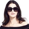 Влюбиться (LianSan) солнцезащитные очки поляризованные солнцезащитные очки мода женские модели большой ремонт коробки лицо вождения зеркало солнцезащитные очки 3113 черный