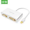 (UGREEN) Mini DP к HDMI / VGA / DVI тройной конвертер интерфейс мини Displayport 3 в 1 порт дисплея dp мужчина к hdmi dvi vga женский адаптер для портативных пк белый