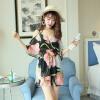 Mitsumi (Searock) новая мода сексуальный купальник боксер плечо утечки Тонкий цветочный купальник охватывают живот трех частей код XL searock женские купальники сексуального юбки