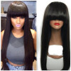 Full Lace Human Hair Wigs With Baby Hair Brazilian Straight Human Hair Wigs Black Women 8a malaysian full lace straight human hair wigs for black women virgin human hair straight full lace