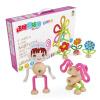 [Jingdong супермаркет] Zhibong ZBOND TOY скрученные столбцы блоков детей дети головоломка раннее образование собранные игрушки девушки раздел цветная коробка
