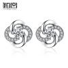 Платина Дворцовые 925 серебряные серьги г-жа женских моделей, в форме сердца серьги ювелирные изделия с ювелирными изделиями