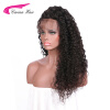 180% Density Curly Lace Front Human Hair Wigs For Black Women Pre Plucked Brazilian Remy Hair Bleached Knots