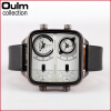 2016 New Arrival OULM 3377 Top Brand Designer Watches Mens Leather Strap Japan Movt Quartz Square Big Face Watch oulm big unique designer watches men sports quality japan movt quartz gifts wristwatch vintage watch relogios masculinos 2017